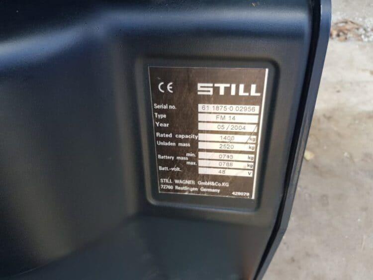 Wózek widłowy składowania STILL FM14