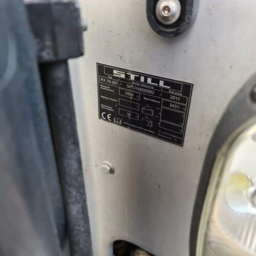 wózek widłowy rx70