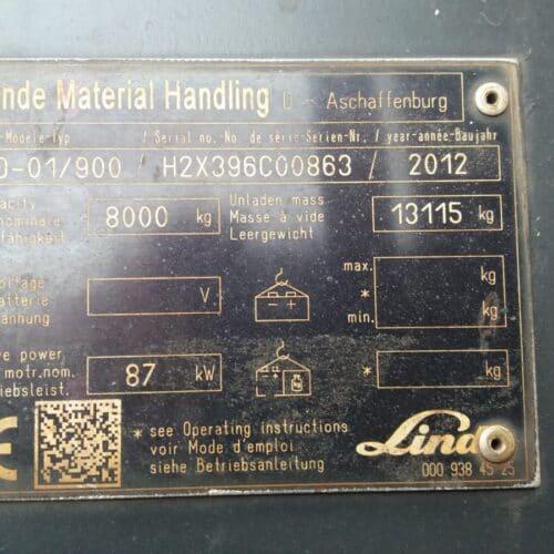 wózek widłowy LINDE H80D